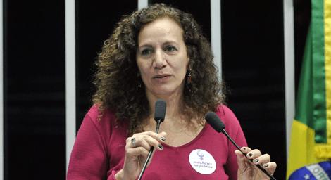 Líder do PCdoB, deputada Jandira Feghali (RJ)