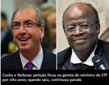 Investigação sobre contas suíças de Cunha estava na gaveta desde 2006