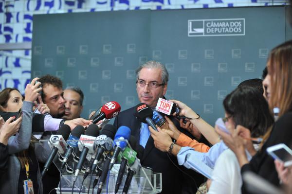 Presidente da Câmara, Dep. Eduardo Cunha concede entrevista coletiva à imprensa Data: 16/11/2015 - Foto: J. Batista/Câmara dos Deputados