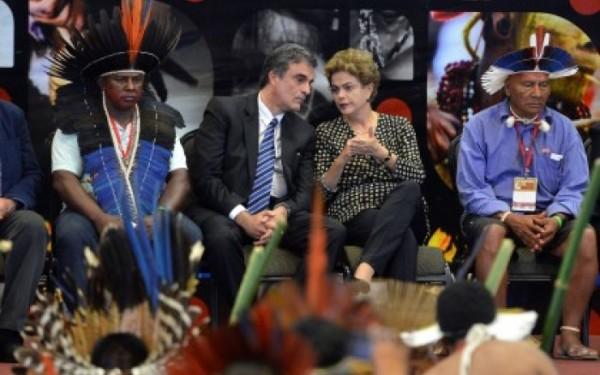 Dilma na Conferência Nacional de Política Indigenista Wilson Dias-Agência Brasil