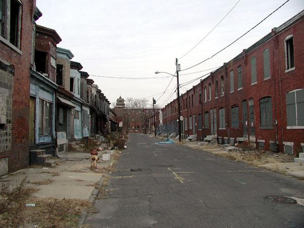 Segundo estudo, expectativa de vida entre os mais pobres depende da região onde vivem; na foto, Camden, New Jersey. Wikicommons