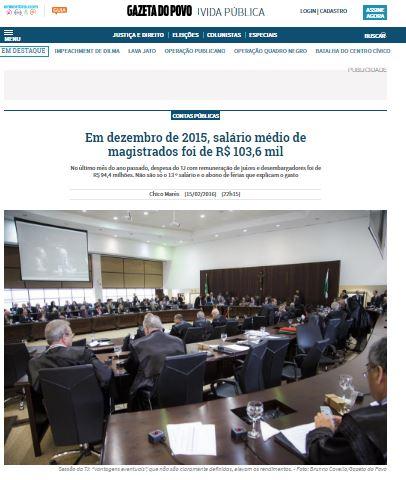Gazeta do Povo reportagem