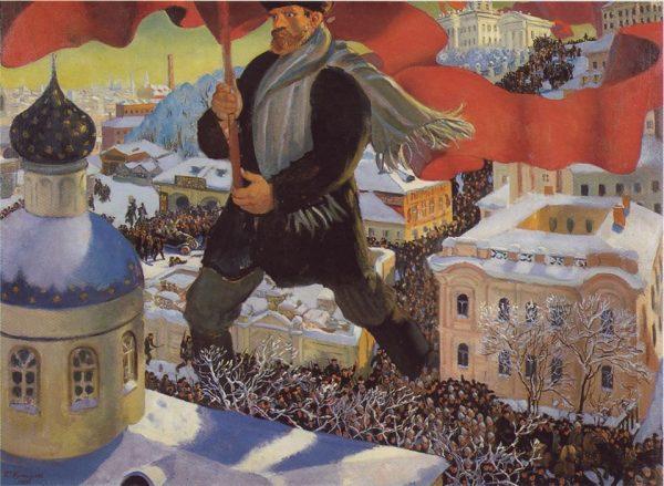 Boris Kustodiyev, The Bolshevik, 1920