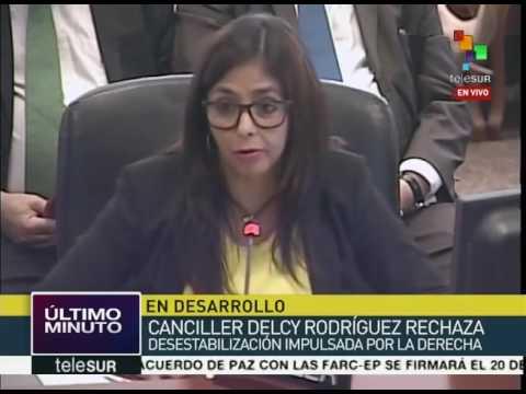 Venezuela no Conselho Permanente da OEA: Não aceitamos a ingerência estrangeira num país democrático