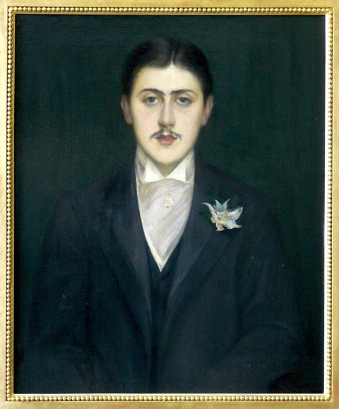 Escritor francês Marcel Proust. Pintura de J. E. Blanche