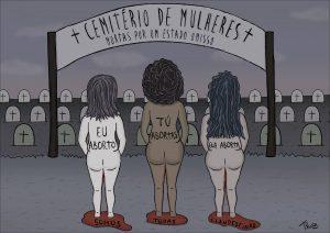 Estimativas revelam que 7.4 milhões de brasileiras com idade entre 18 e 39 anos já interromperam a gravidez em algum momento da vida. Ilustração:Thais Almeida Rocha.