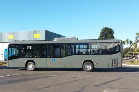 Ônibus elétrico movido a energia solar – O veículo foi desenvolvido pelo Grupo de Pesquisa Estratégica em Energia Solar da UFSC