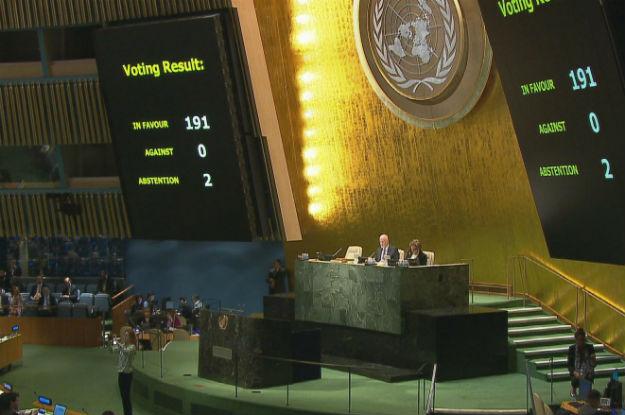 Sessão na Assembleia Geral para votação na resolução que pede o fim do embargo a Cuba. Foto: ONU