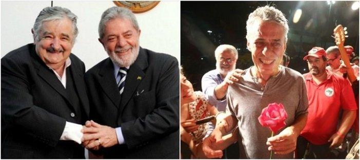 Mujica, Lula e Chico Buarque estarão hoje juntos na Paulista