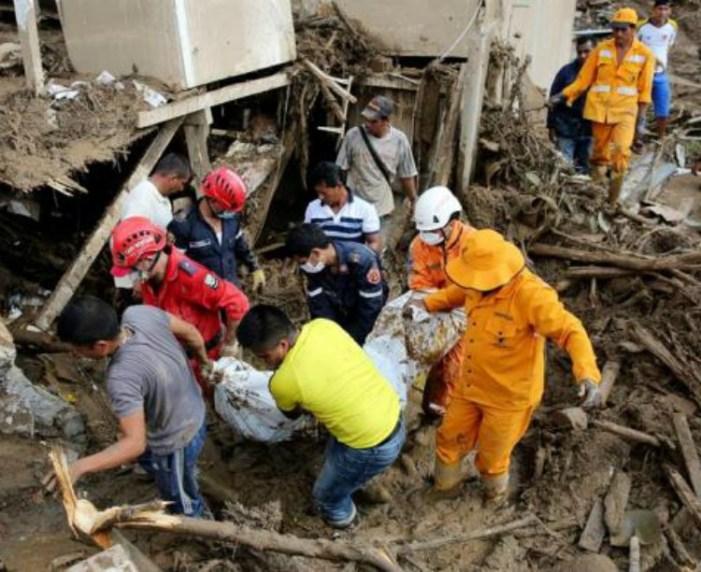 Sobe para 254 o número de mortos em consequência das enchentes na Colômbia