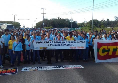 Movimento sindical aumenta pressão sobre deputados contra reformas