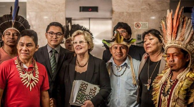 Indígenas reforçam posição contra o marco temporal a ministros do STF