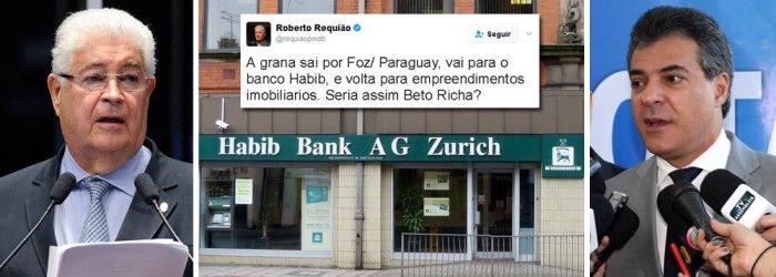 Senador Requião denuncia: Beto Richa tem conta secreta na Suíça