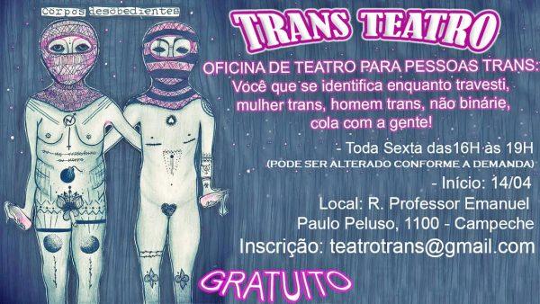Oficina de teatro para pessoas trans em Florianópolis