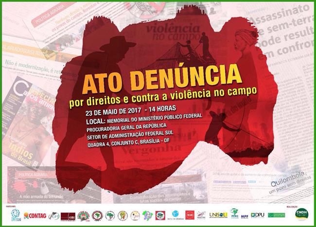Em Brasília, ato denuncia violação de direitos no campo