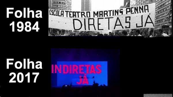 Folha de S. Paulo: Diretas Já… em 1984. E agora?
