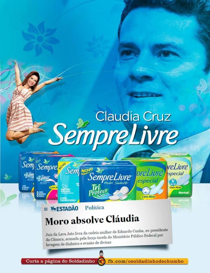 O que leva Moro a não mexer em Cláudia Cruz?