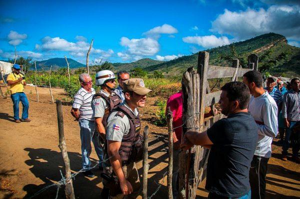 Cerca de 50 famílias foram despejadas do Acampamento Terra Livre, no sudoeste da Bahia (Foto: Gustavo Oliveira)