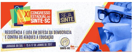 SINTE/SC divulga programação do XI Congresso Estadual da Entidade