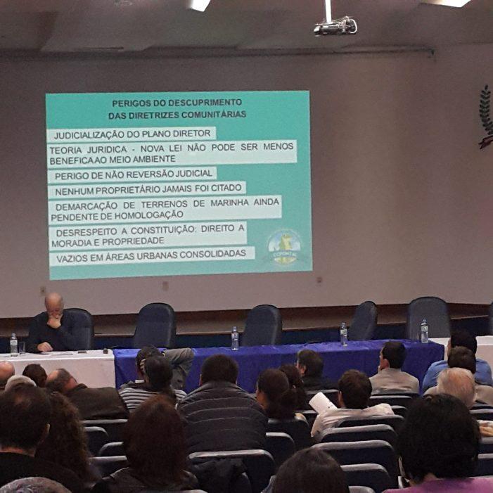 Comunidades de Florianópolis consolidam posição contra alterações arbitrárias no Plano Diretor