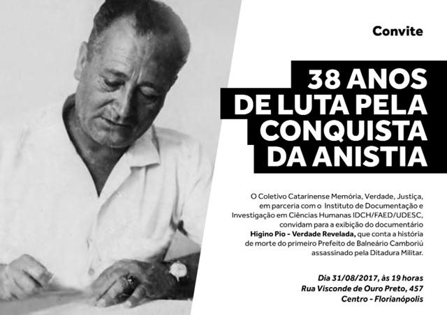 Filme Higino Pio – Verdade Revelada será exibido em Florianópolis, dia 31