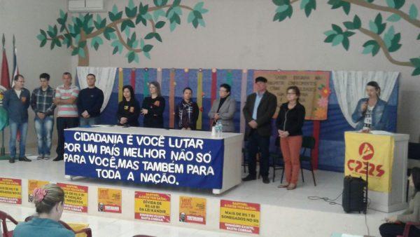 CPERS realiza Audiência Pública sobre Educação Pública em Taquaruçu do Sul, RS