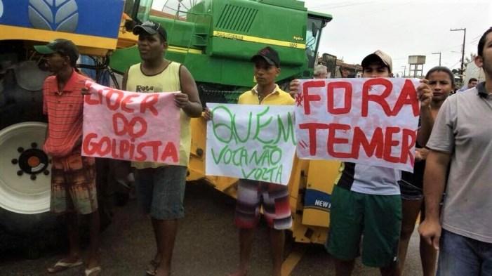 Juventude do MPA tem instrumentos quebrados durante repressão
