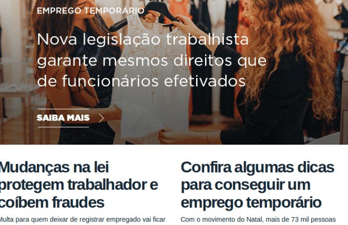 """Pós reforma trabalhista: site do governo federal dá dicas de como arrumar um """"bico"""""""