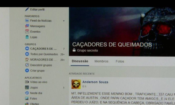 Página do Facebook aceitava encomenda de assassinatos