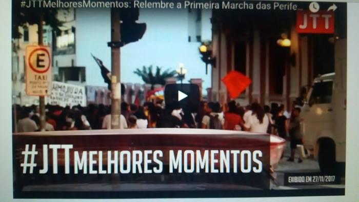 #JTTMelhoresMomentos: Relembre a Primeira Marcha das Periferias de Florianópolis