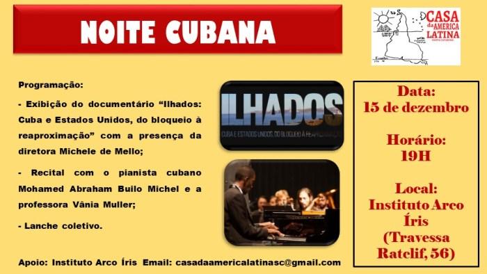 Noite cubana da Casa da América Latina em Florianópolis