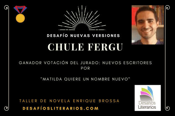 """Premio DESAFÍO LITERARIO """"NUEVAS VERSIONES"""""""