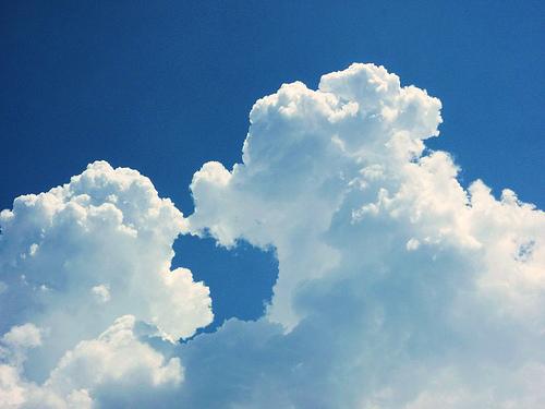 En un caballito de nube
