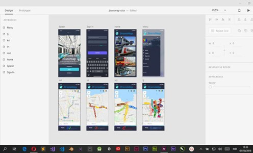 UI/UX Design – Jtransmap Mobile App (Iphone X)