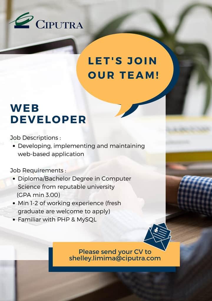 web developer ciputra