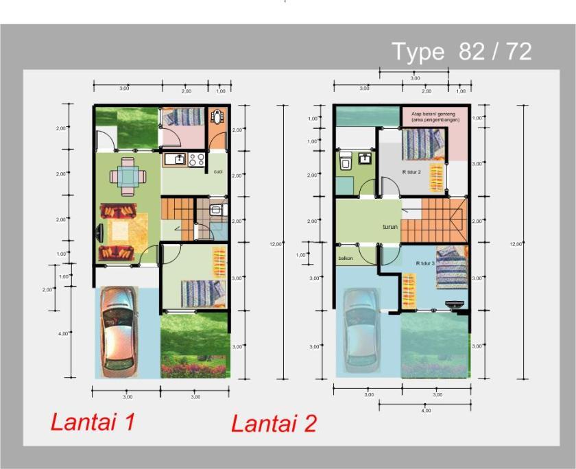 Desain Rumah Minimalis Luas Tanah 72 Python