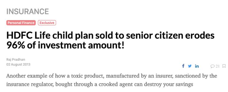 Always Avoid a ULIP plan - Smart Money Moves - The Moneyplanting Program - Vinod Desai