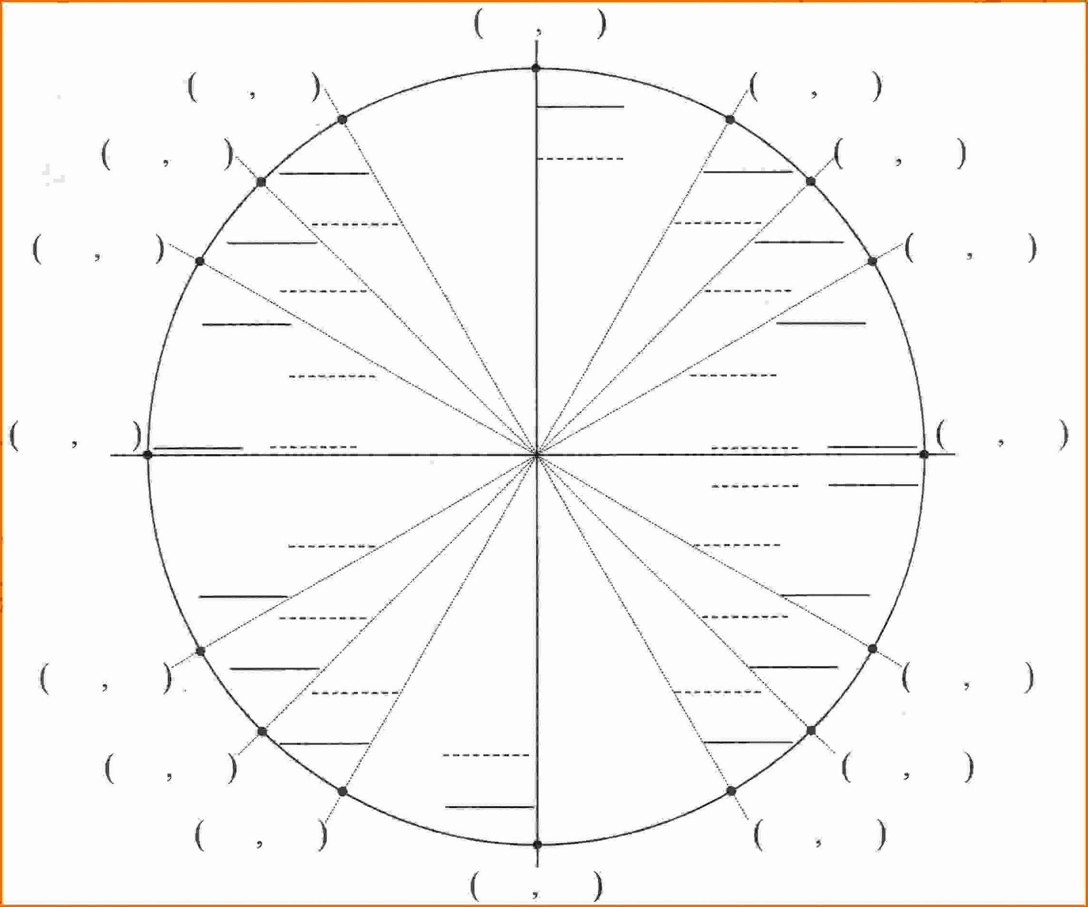40 Blank Unit Circle