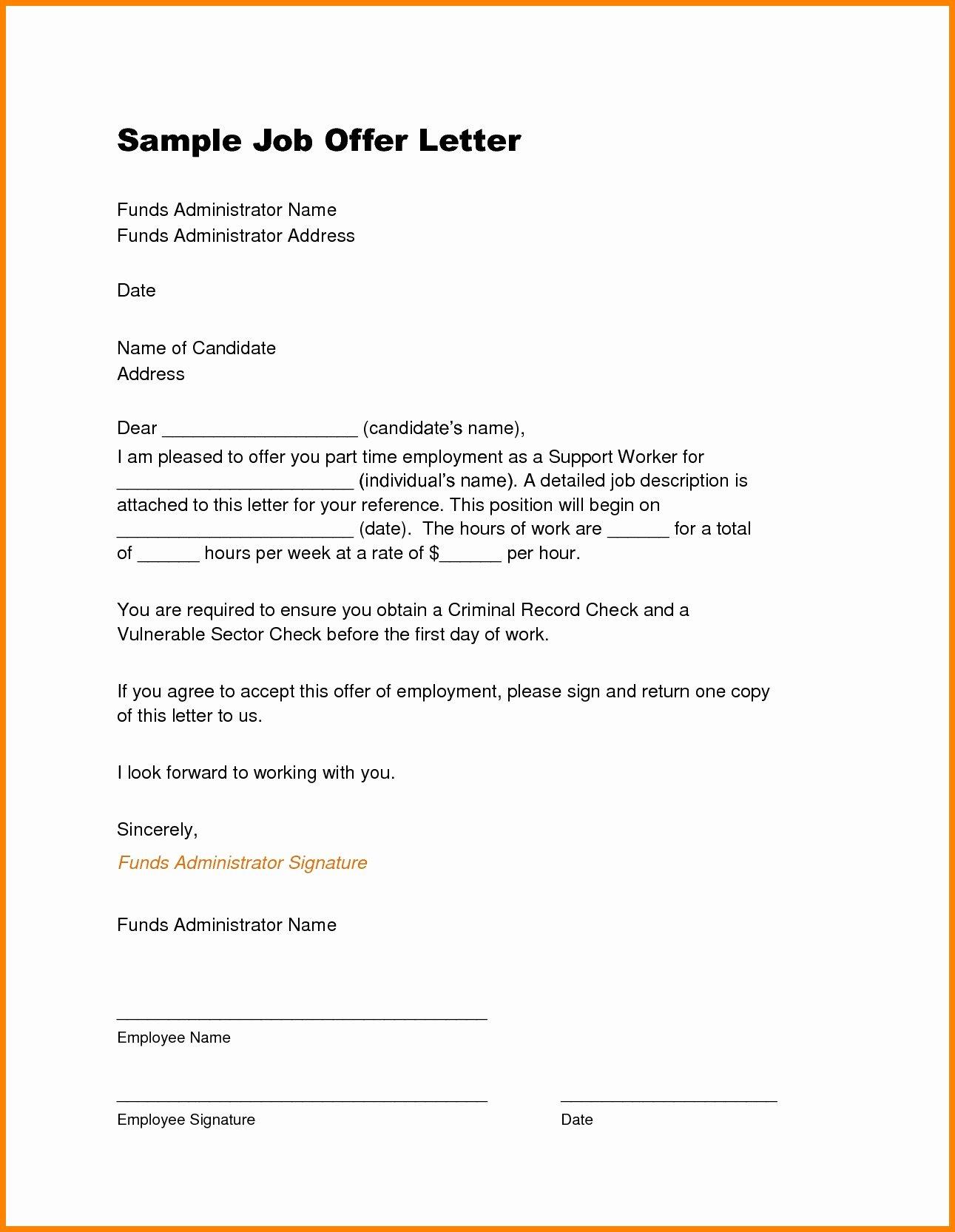 40 Job Offer Letter Example
