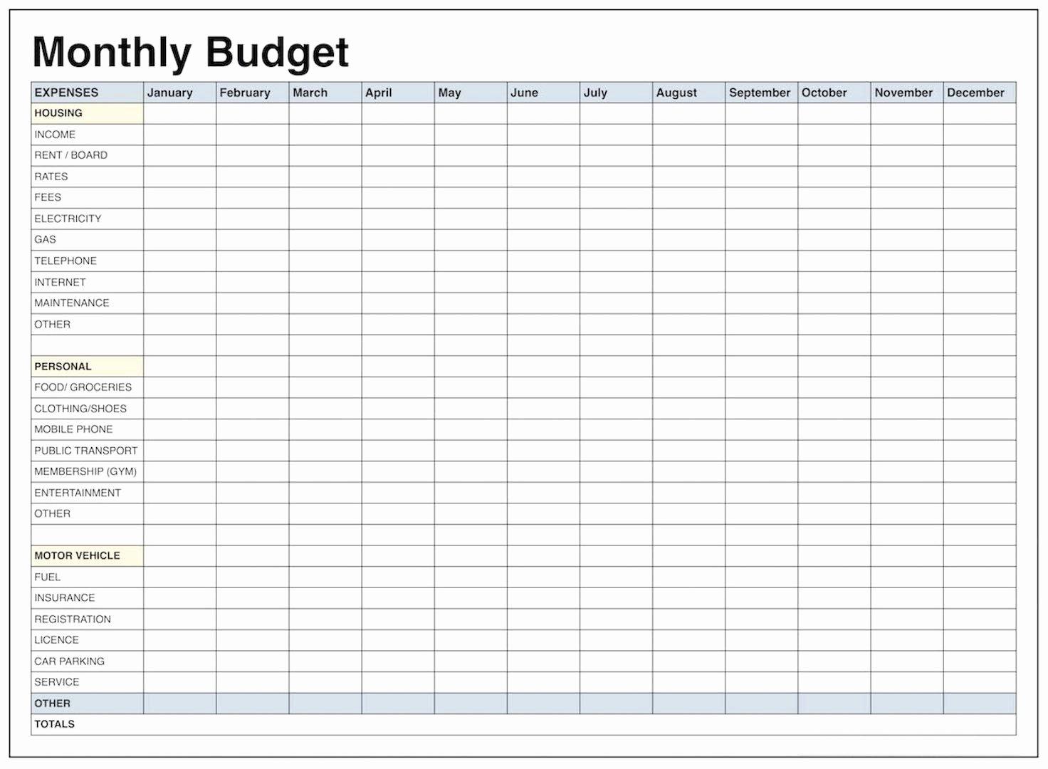 40 Monthly Budget Worksheet Excel