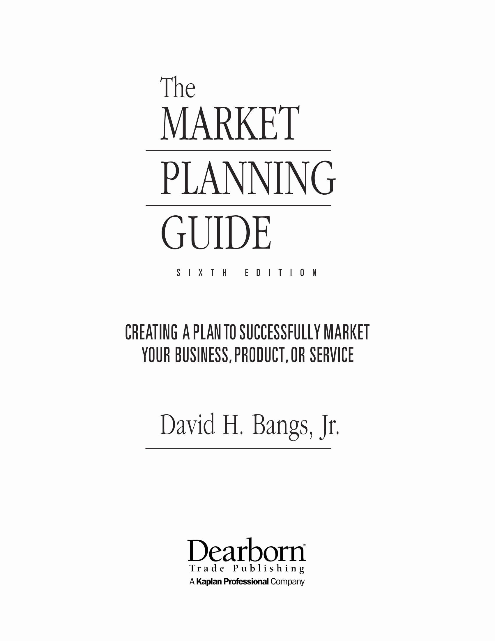 40 One Page Marketing Plan