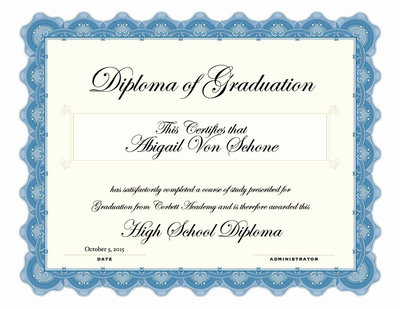 40 Printable High School Diploma