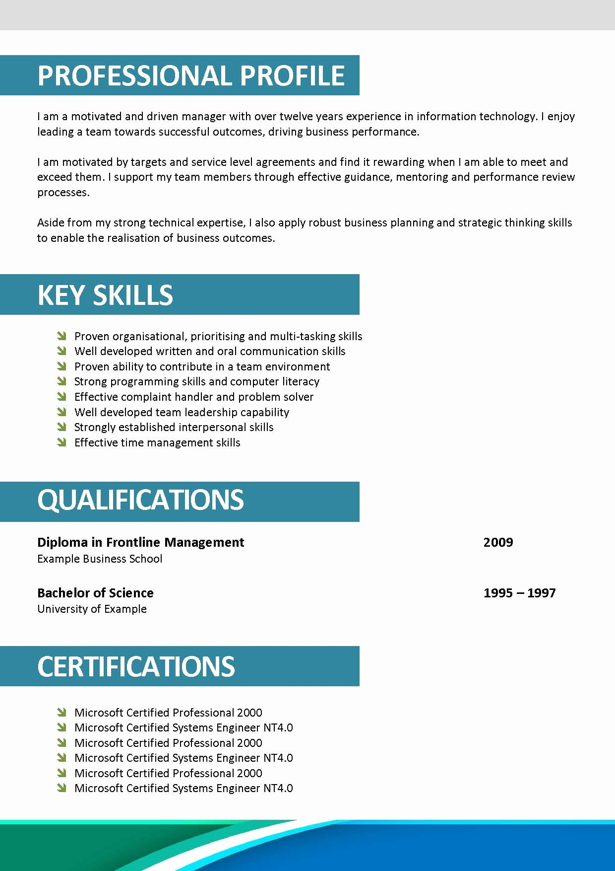 40 Professional Resume Template Free