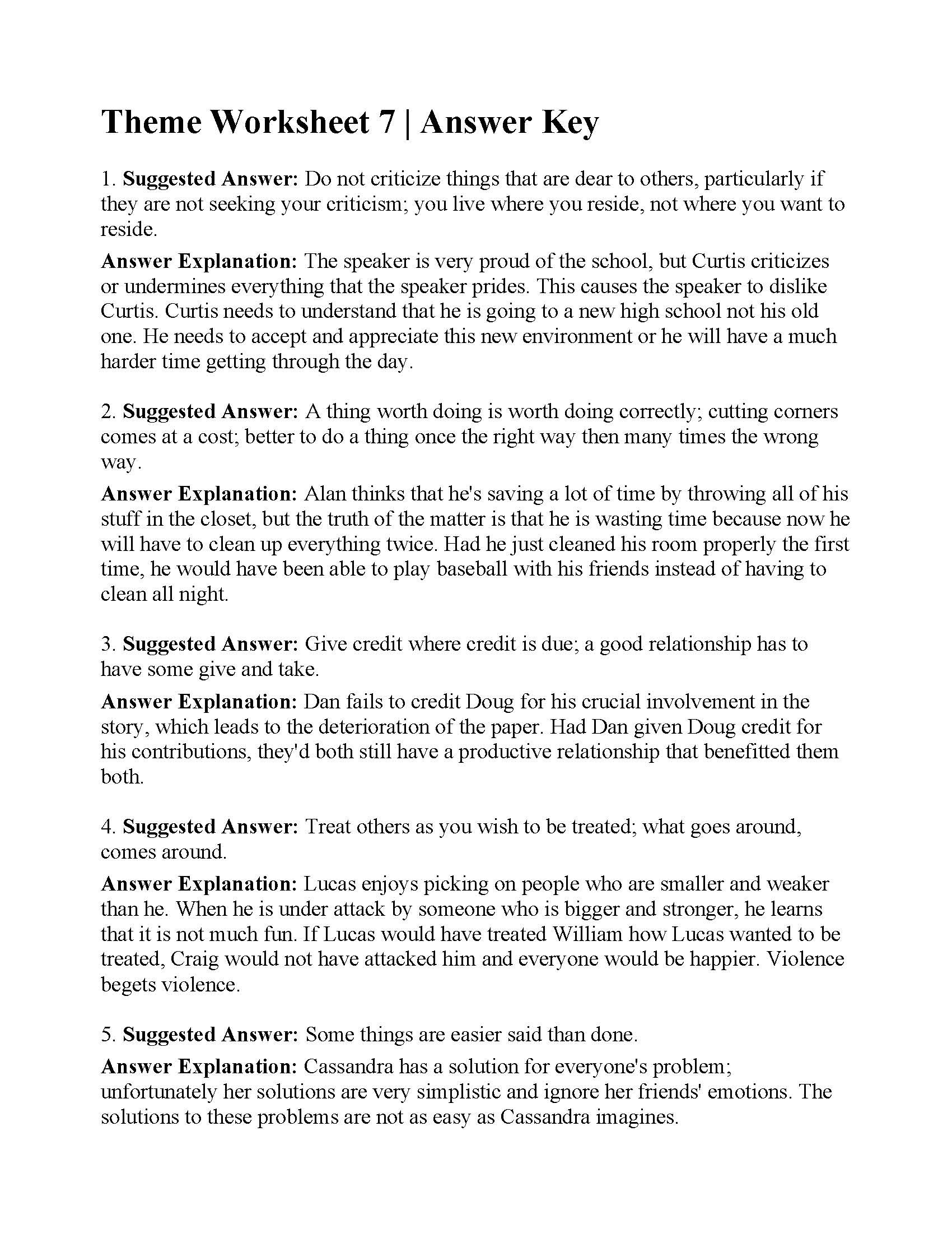 hight resolution of Ereadingworksheets 5th Grade   Printable Worksheets and Activities for  Teachers