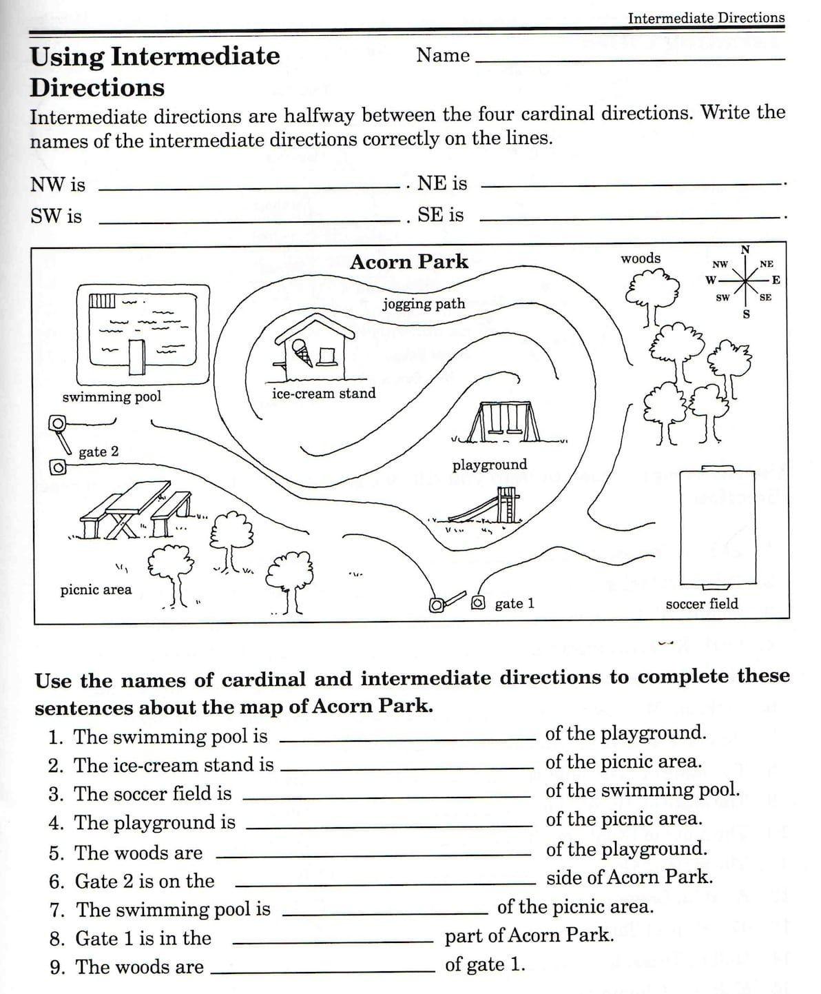 20 Second Grade Map Skills Worksheets