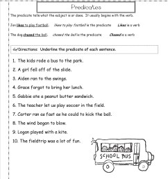 Subject Predicate Identification Worksheet   Printable Worksheets and  Activities for Teachers [ 1650 x 1275 Pixel ]