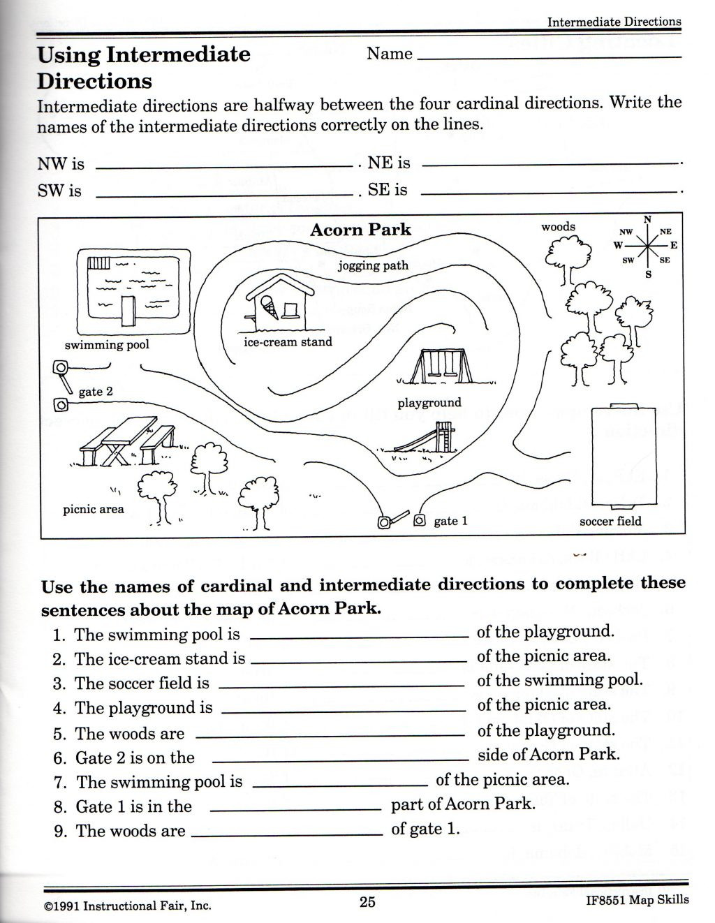 20 Map Skills Worksheet 2nd Grade