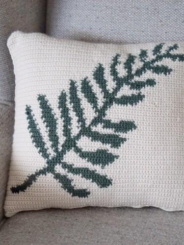 Ferne Cushion Cover Pattern by Tharyn of Burgundy & Blush