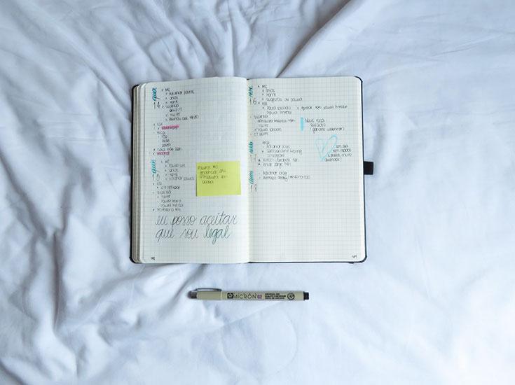 Como usar o seu bullet journal para cuidar da sua saúde mental