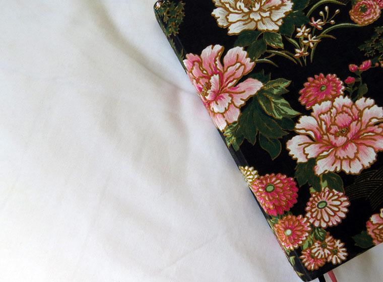 detalhe caderno flores